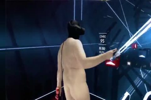 Beat Saber 1 Part 4of4 Fully nude Mixed VR