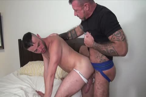 A Bear Examines The arse Of His Cub