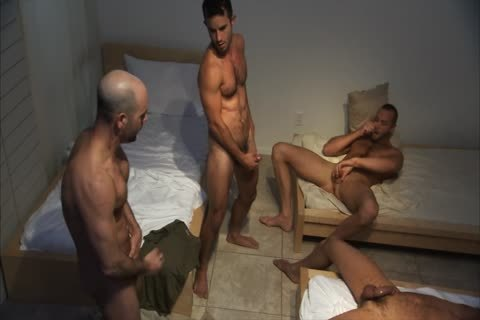 Adam, Ben, Leo, And 10-Pounder jerk off