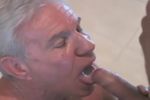 enchanting grandpa sucking & Getting slammed By Younger lad