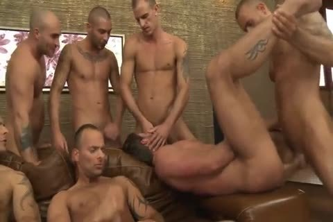 Toby Dutch acquires poked In A Seven-chap bare gang group-sex