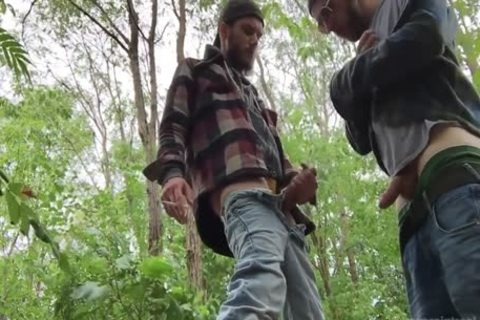 two Rednecks suck dick And gulp plenty of urinate outdoors
