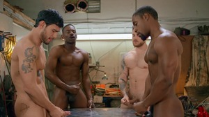 Tom Of Finland: Service Station: unprotected - Ricky Roman & River Wilson American nail
