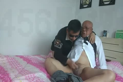 young Chinese Sucks & pounds His grandpapa friend