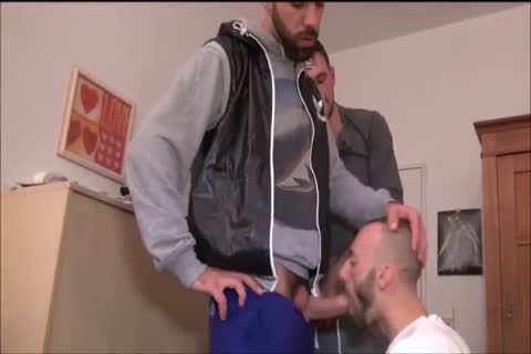 Threeway hairy Hunks raw dril And engulf