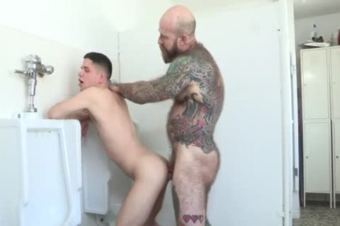 hairy Stepdad nails dirty boy