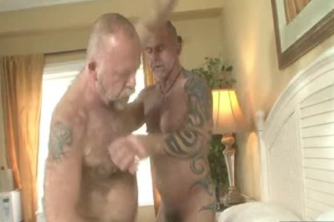 hairy Daddies bang In homo Resort