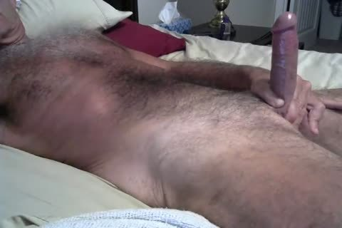 hirsute Daddy Jerking On The daybed