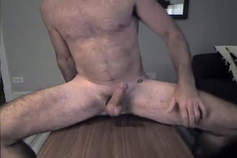 hairy Daddy Rides A fake penis And Cums two