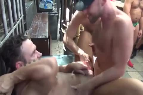 MusclePup Logan Moore Acquires group pounded Barebacked fuck