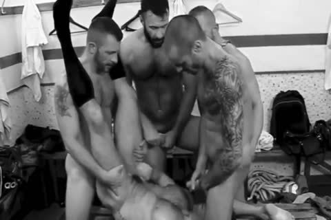 sperm AFTER THE GAME : LOCKER ROOM orgy B&W