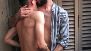 Reality Dudes: Diego escorted by Andres bareback sucking dick