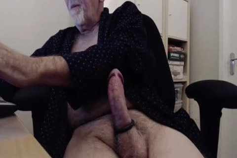 hairy Gramps wank And sperm Show