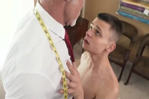 tiny twink drilled bare By Tall Silver Muscle Daddy