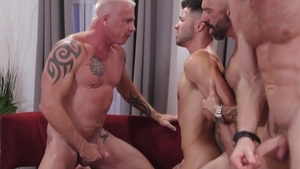 IconMale.com - Inked Ryan Carter tease big penis