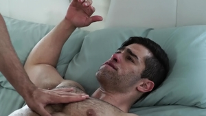 Icon Male - Hairy latin gay Lucas Leon masturbating HD