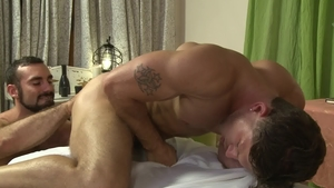 Icon Male - Athletic and hairy Roman Todd sucking dick