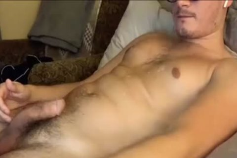 Masturbating And Touching His nasty hairy backdoor