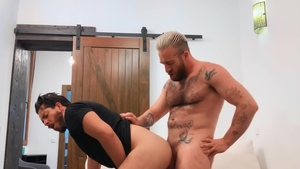 DrillMyHole: Black haired Manuel Scalco receives plowing hard