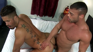ExtraBigDicks - Gay Micah Brandt getting facial in the morning
