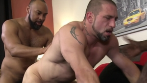 MenOver30: Bald Aaron Trainer with Ray Diesel hardcore rimming