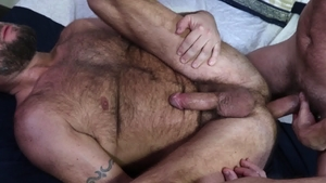 MenOver30 - Chase Ryder with bald Jax Hammer throat fuck