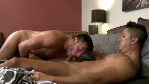 PrideStudios - Adrian Suarez amongst Scott DeMarco throat fuck