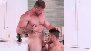 HotHouse - Hairy Austin Wolf with Beaux Banks in the bed