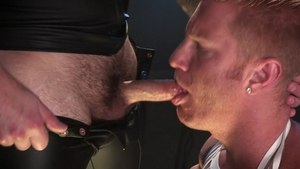 HotHouse.com: Chris Bines in latex licks Johnny V big cock