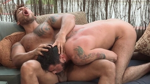Hot House - Hairy Viktor Rom bodybuilder kissing sex tape