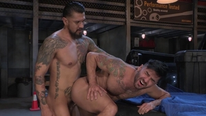 Hot House: Bruno Bernal alongside Boomer Banks stretching