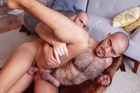 nice hirsute Bottom Knows What To Do With A enormous enormous dick